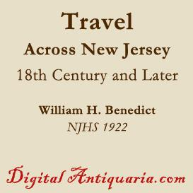 Travel Across New Jersey in the 18th Century and Later | eBooks | History