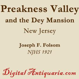 preakness valley settlement and the dey mansion