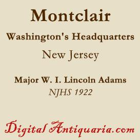 washington's headquarters in montclair