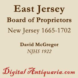 board of proprietors of east jersey