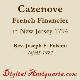 Cazenove in New Jersey 1794 | eBooks | History