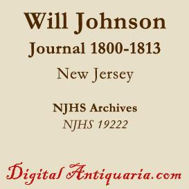 Will Johnson's Journal of 1800-1813 | eBooks | History