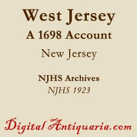 An Account of West Jersey 1698 | eBooks | History