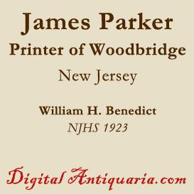James Parker, the Printer, of Woodbridge | eBooks | History