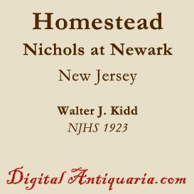 The Old Nichols Homestead, Newark (New Jersey) | eBooks | History