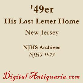 Last Letter from a Jersey '49er | eBooks | History