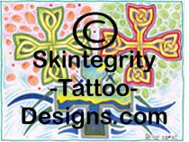 individual cross tattoo flash