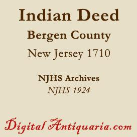indian deed of 1710 (new jersey)