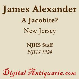 was james alexander a jacobite?