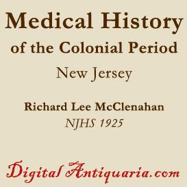 new jersey medical history in the colonial period