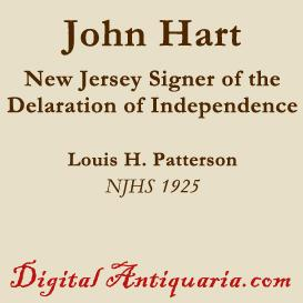 John Hart, the New Jersey Signer | eBooks | History