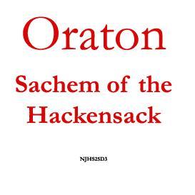 Oraton, Sachem of Hackensack | eBooks | History