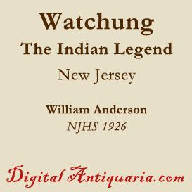 indian legend of watchung