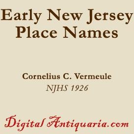 Early New Jersey Place Names | eBooks | History