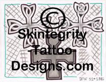 Individual Cross Tattoo Flash | Other Files | Stock Art
