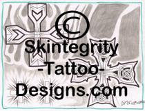 Individual Cross Tattoo Flash | Other Files | Stock Art