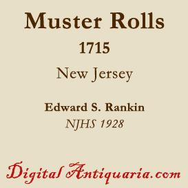 Military Muster Rolls, 1715 (New Jersey) | eBooks | History