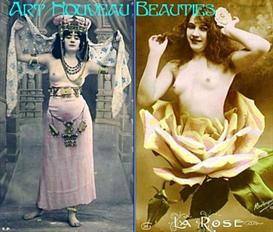 Art Nouveau Beauties - PDF Vintage Postcard Album / Slideshow | eBooks | Arts and Crafts