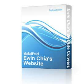 Ewin Chia's Website Conversion Secrets (with Master Resell Rights!) | Software | Internet