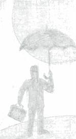 Man with an umbrella - psd | Other Files | Clip Art