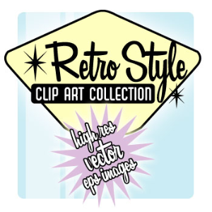 HUGE Retro Style Clip Art Collection | Other Files | Clip Art