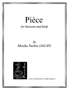 Pièce for Bassoon and Harp | eBooks | Sheet Music