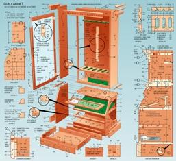 upright gun cabinet plans
