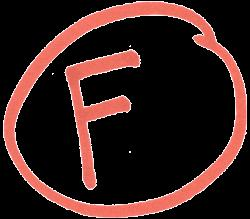 Circled Red F - psd | Other Files | Clip Art