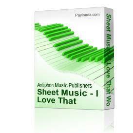 Sheet Music - I Love That Woman | eBooks | Sheet Music
