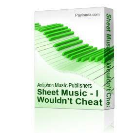 Sheet Music - I Wouldn't Cheat On Her If She Was Mine | eBooks | Sheet Music