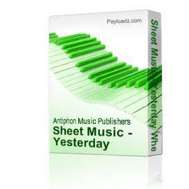 Sheet Music - Yesterday When Love Was There | eBooks | Sheet Music