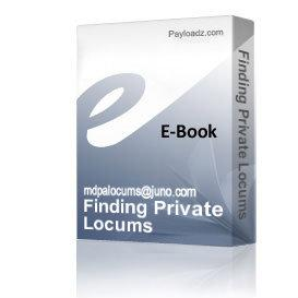Finding Private Locums | Audio Books | Biographies