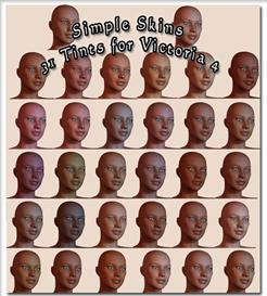 Skin Tints for Daz3d Victoria 4 Realistic Human Figure | Software | Add-Ons and Plug-ins