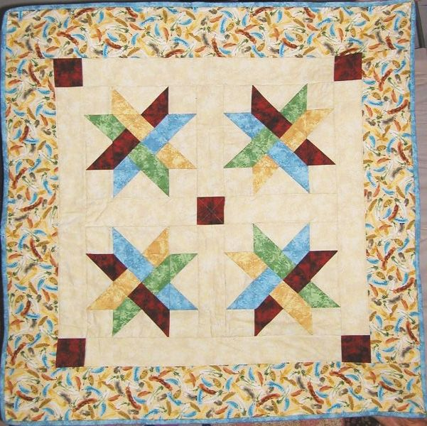 Quilt Block Patterns In Alphabetical Order : Woven Star Quilt Pattern Crafting Sewing Bed and Bath