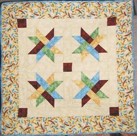 woven star quilt pattern