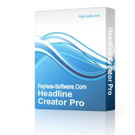 Headline Creator Pro | Audio Books | Business and Money