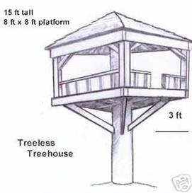 plans to build a treeless treehouse