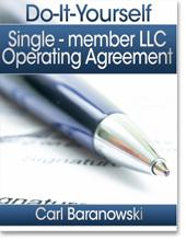 LLC Operating Agreement - Single Member Version | eBooks | Business and Money