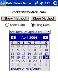 Date Picker Control w/Design Support .NET Compact Framework | Software | Developer