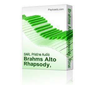 Brahms Alto Rhapsody, Rinaldo / Schubert Gesang der Geister Uber den Wassern | Music | Classical