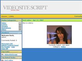 video site php script | Software | Design Templates