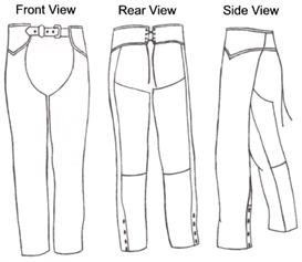 leather chaps pattern