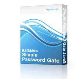 Simple Password Gate JavaScript - Basic Version - In .doc format | Software | Internet