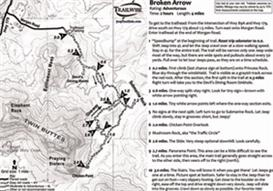 broken arrow sedona arizona 4x4 jeep trail map bw printable .pdf