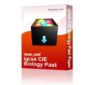 Igcse CIE Biology Past Papers till nov 08H