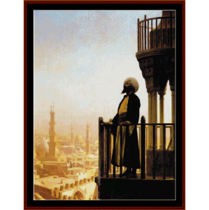 a call to prayer- gerome cross stitch pattern by cross stitch collectibles