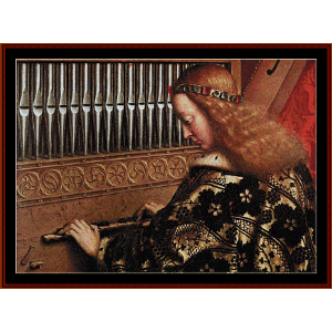 Angel Playing Music II - Van Eyk cross stitch pattern by Cross Stitch Collectibles | Crafting | Cross-Stitch | Wall Hangings
