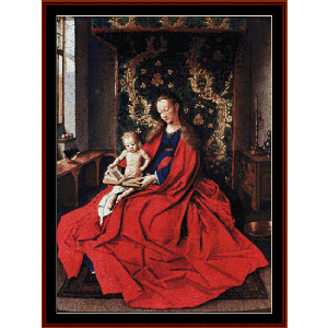 madonna and child reading - van eyk cross stitch pattern by cross stitch collectibles