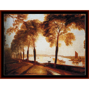 Mortlake Terrace - Turner cross stitch pattern by Cross Stitch Collectibles | Crafting | Cross-Stitch | Wall Hangings