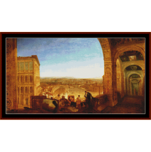 rome from the vatican - turner cross stitch pattern by cross stitch collectibles